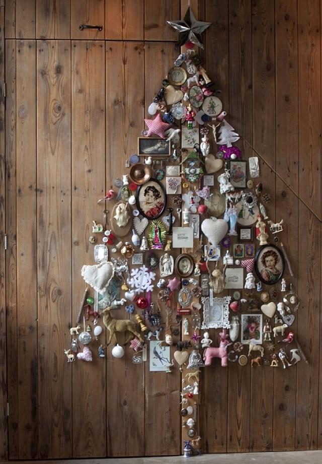 Креативные елки своими руками из разных материалов фото